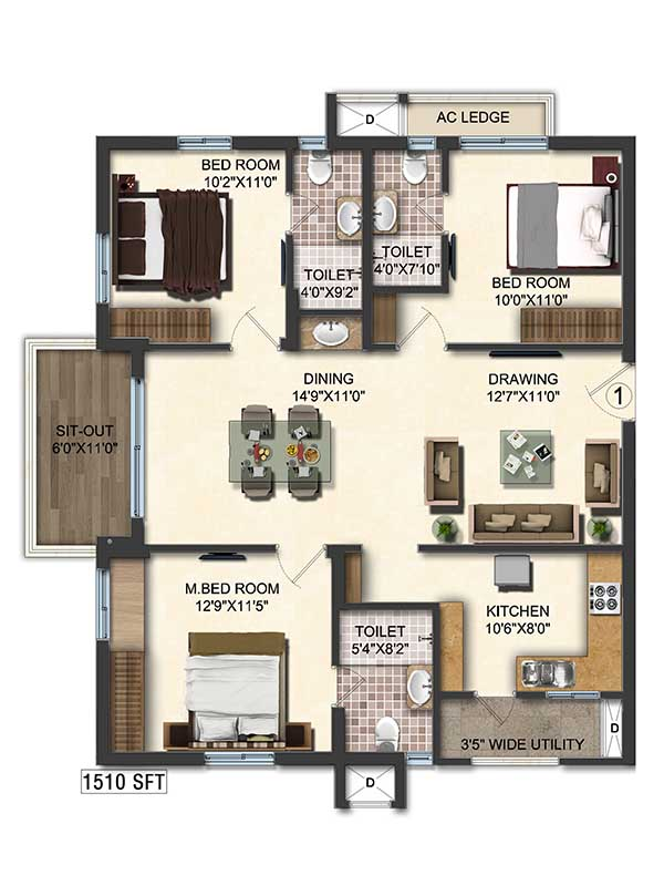 New Flats For Sale In Hyderabad Accurate S Layout Amp Plans