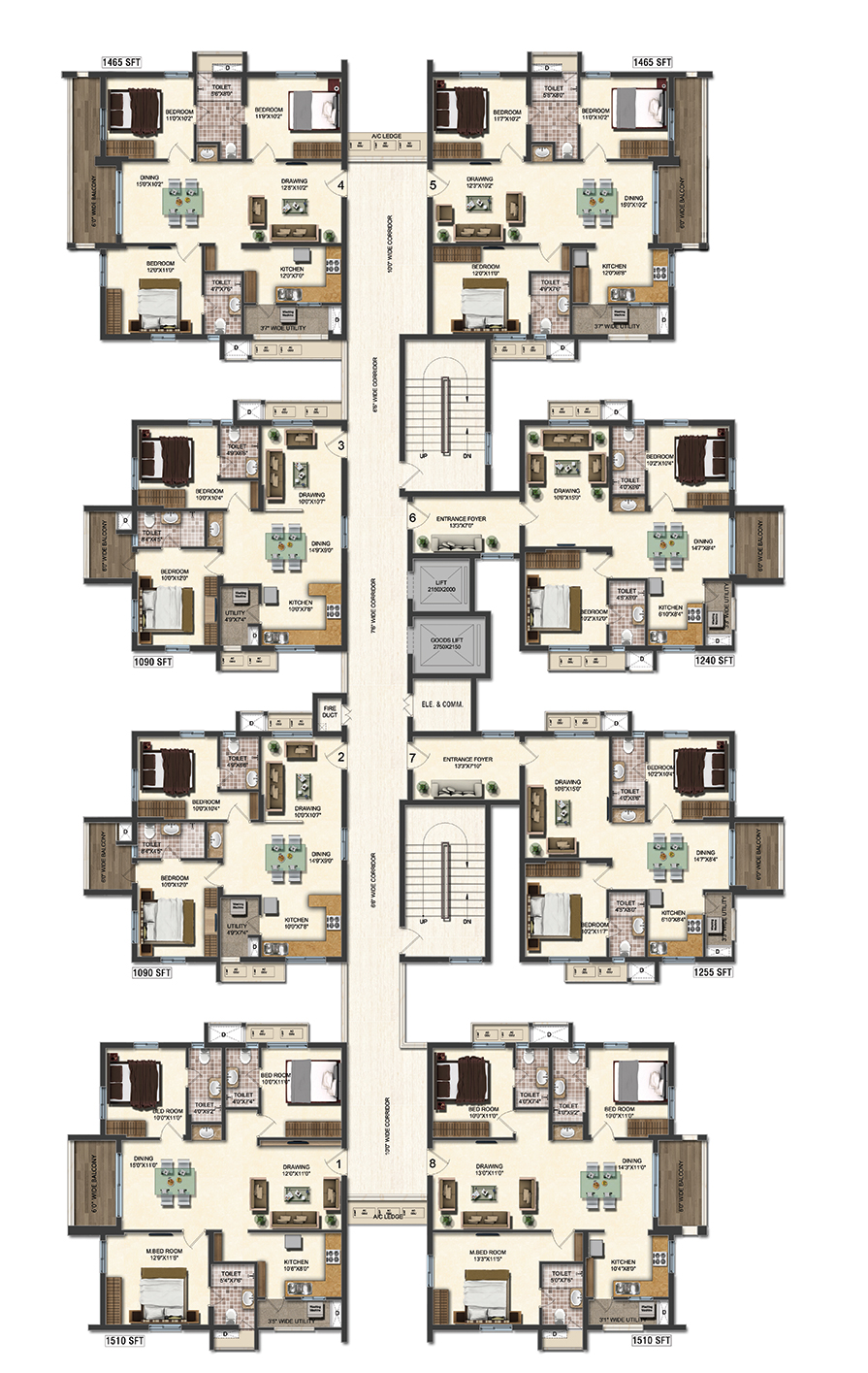 2 bhk flat floor plan vastu for Apartment plans as per vastu